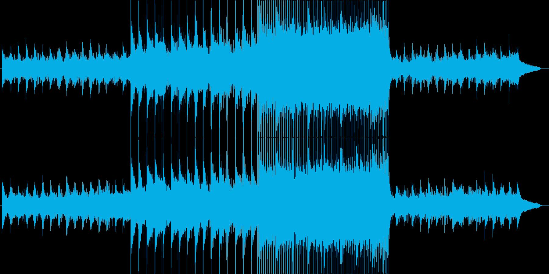 幻想的で期待感のあるピアノ&ストリングスの再生済みの波形