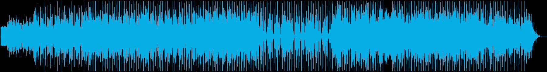 ヒップホップで緊張感ある曲の再生済みの波形
