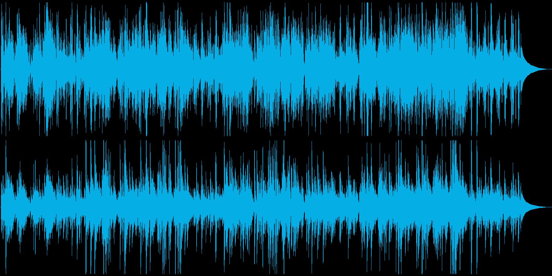 ゆったり落ち着くギターによるミュージックの再生済みの波形