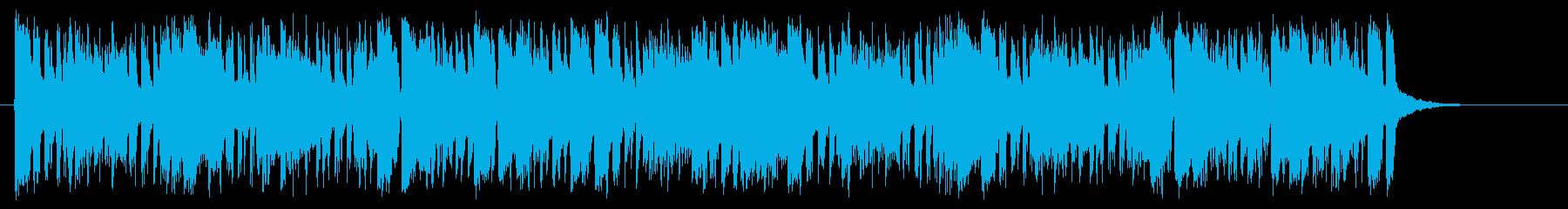 ボンゴがラテンのリズムを刻む陽気な曲の再生済みの波形