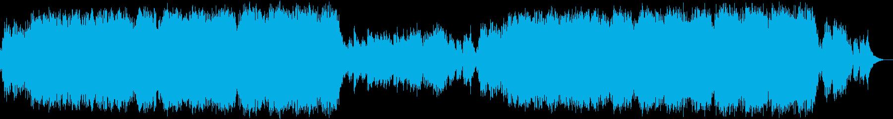 壮大で幻想的なエレクトロニカの再生済みの波形