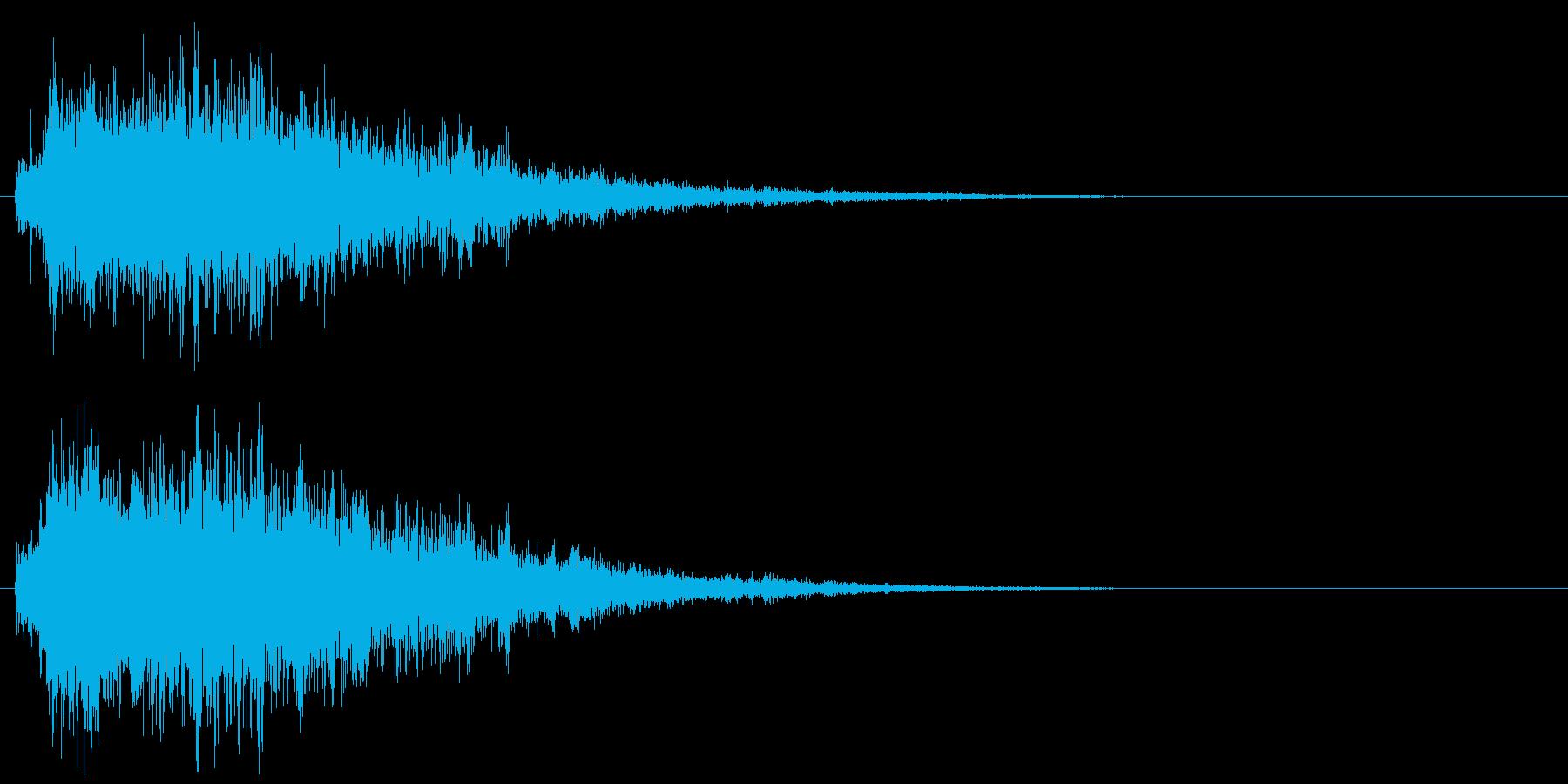 水面・海になどに飛び込む音の再生済みの波形