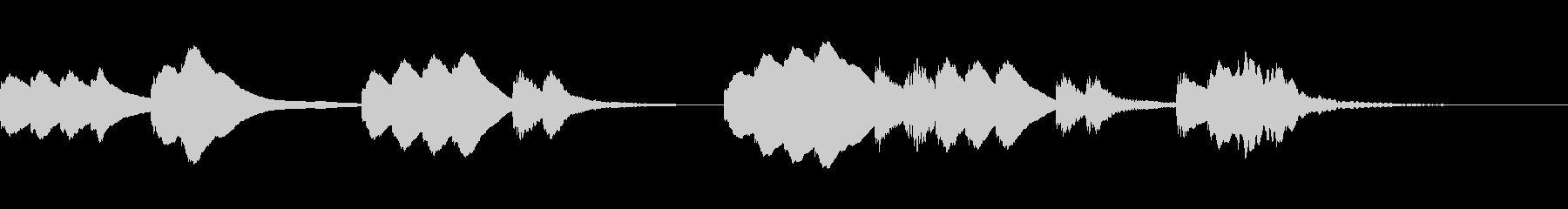 木琴のほのぼのとしたジングルの未再生の波形