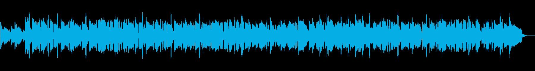 ほっと一息つくような温かいケルトBGMの再生済みの波形
