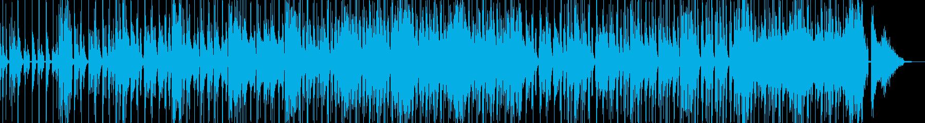 コメディに適した滑稽なBGM・低音有の再生済みの波形