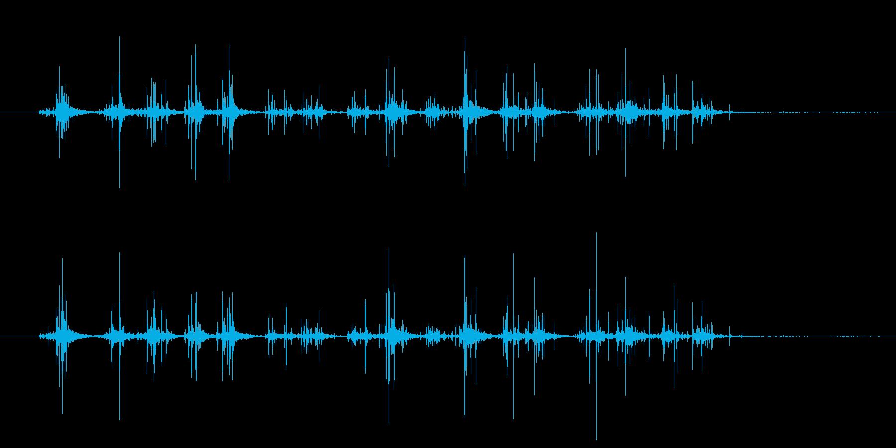 シャカシャカ(振る音)2の再生済みの波形