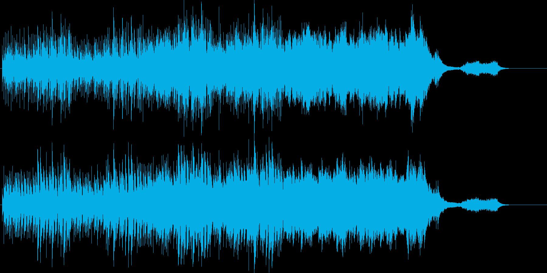 シリアスで事件の香りのするBGMの再生済みの波形