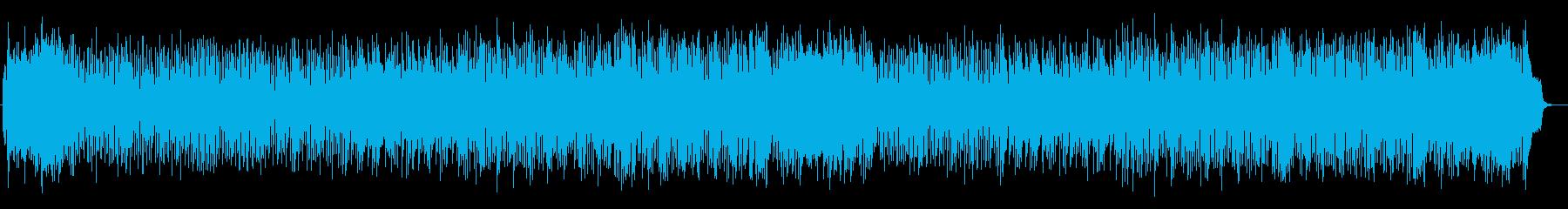 優しく明るいシンセサイザーサウンドの再生済みの波形