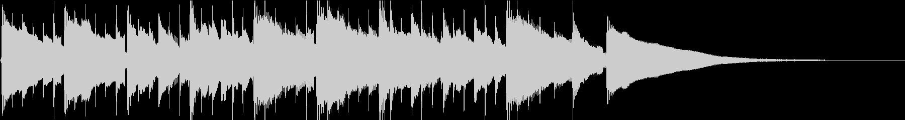 ハーモニクスが美しいガットギタージングルの未再生の波形