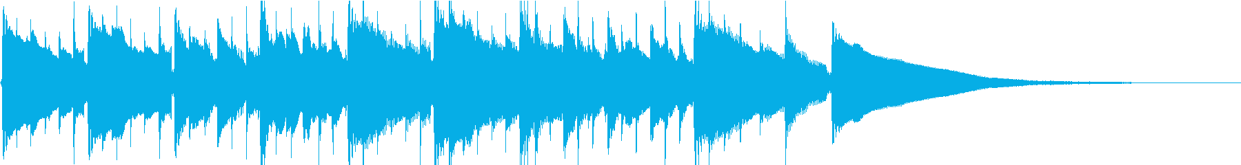 ハーモニクスが美しいガットギタージングルの再生済みの波形