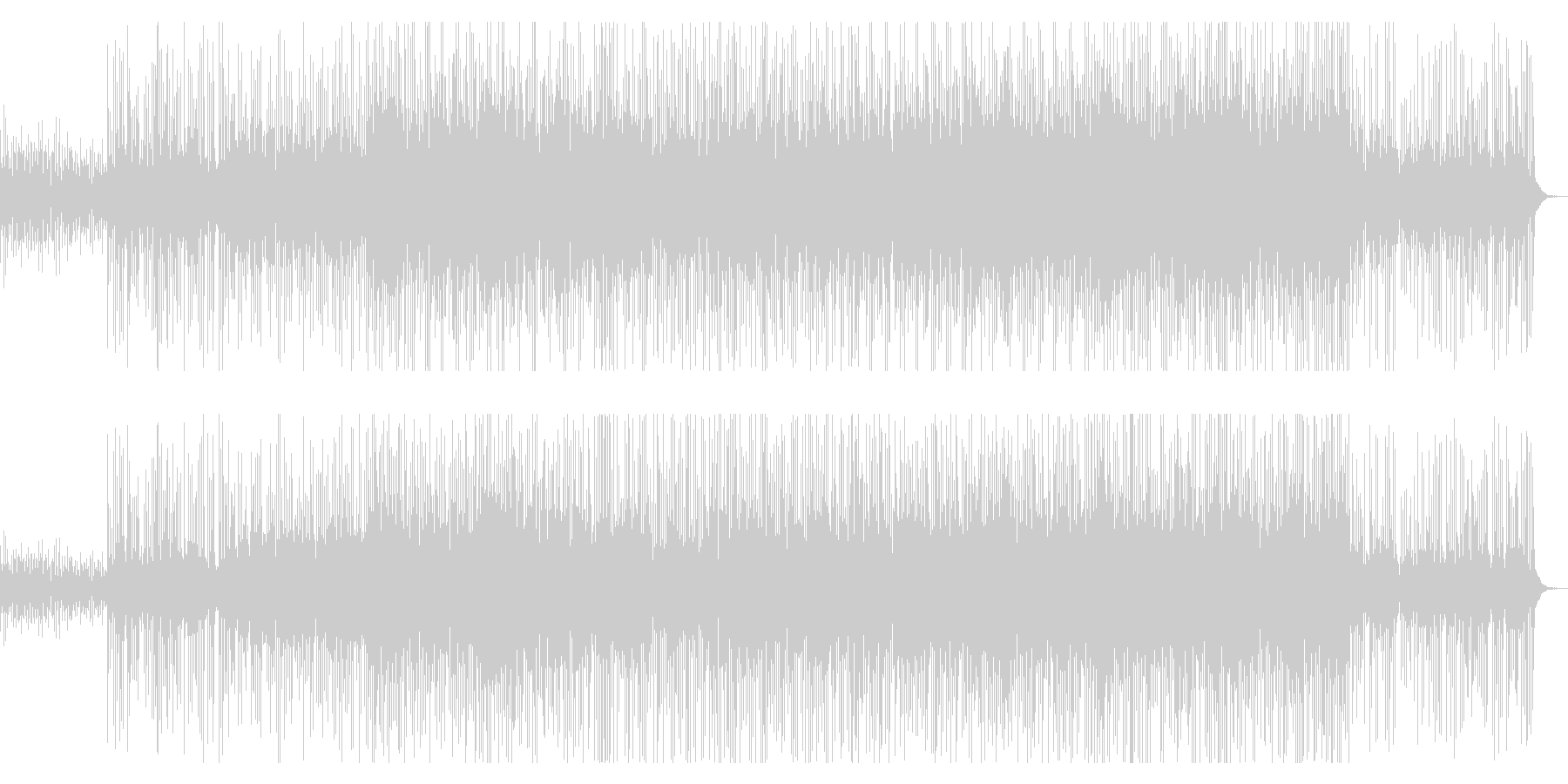 ウクレレとピアノが印象的なサマーソングの未再生の波形