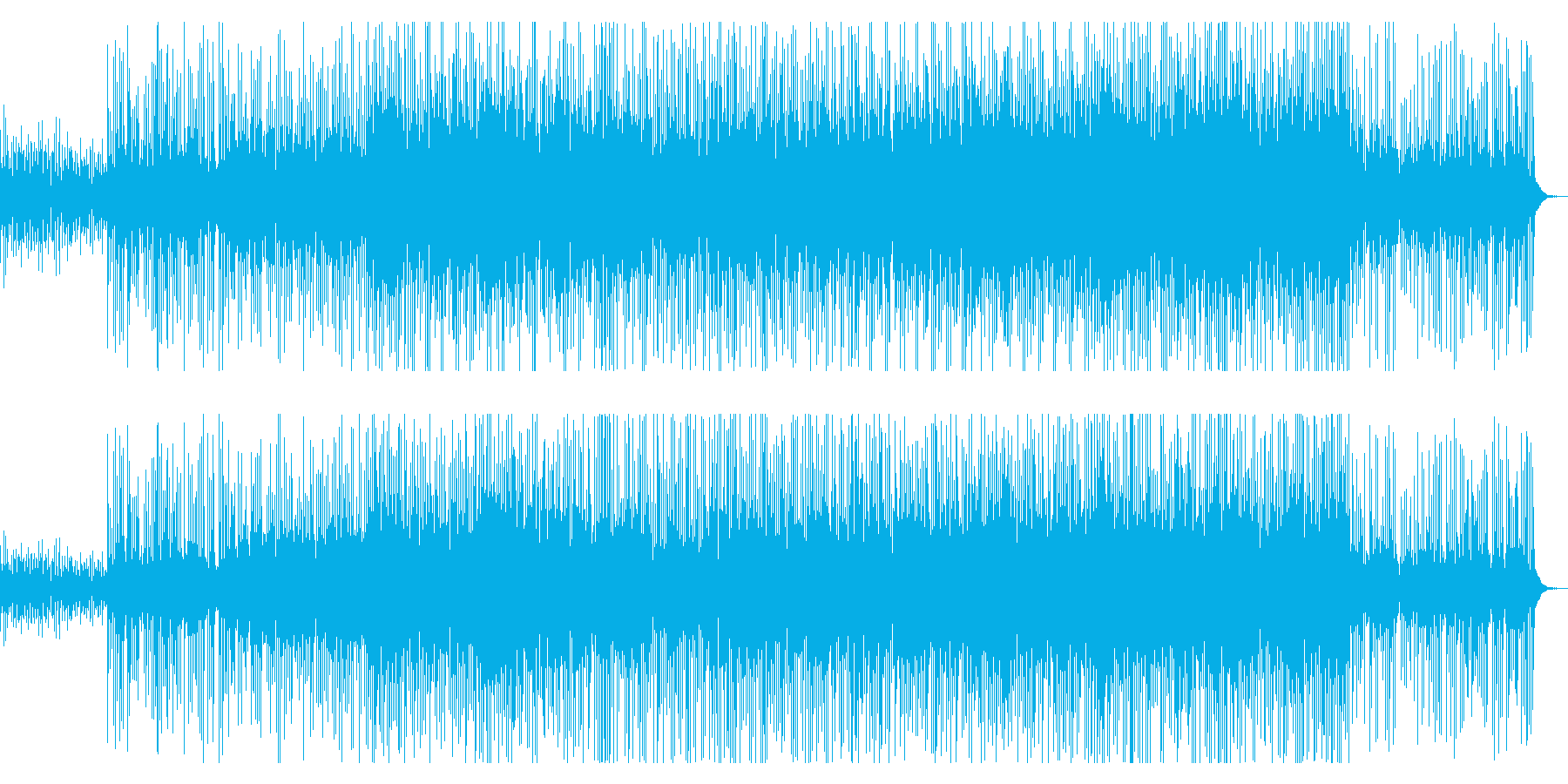 ウクレレとピアノが印象的なサマーソングの再生済みの波形