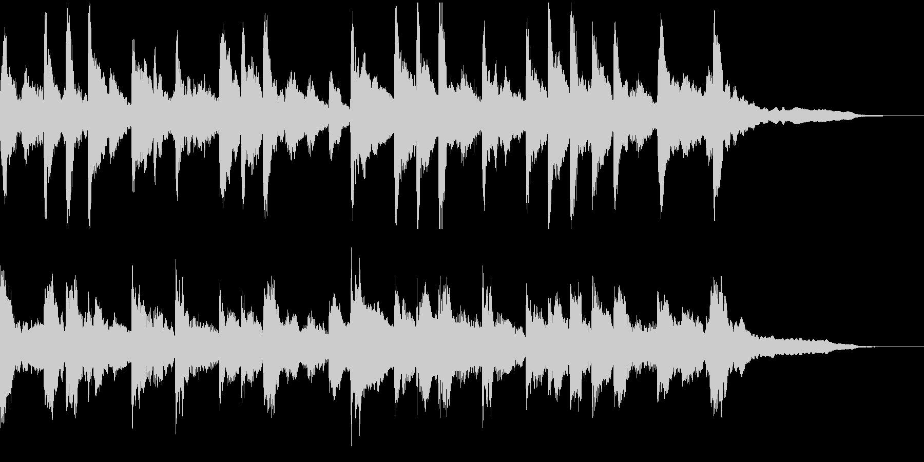 おだやかなピアノのCM向けBGMの未再生の波形