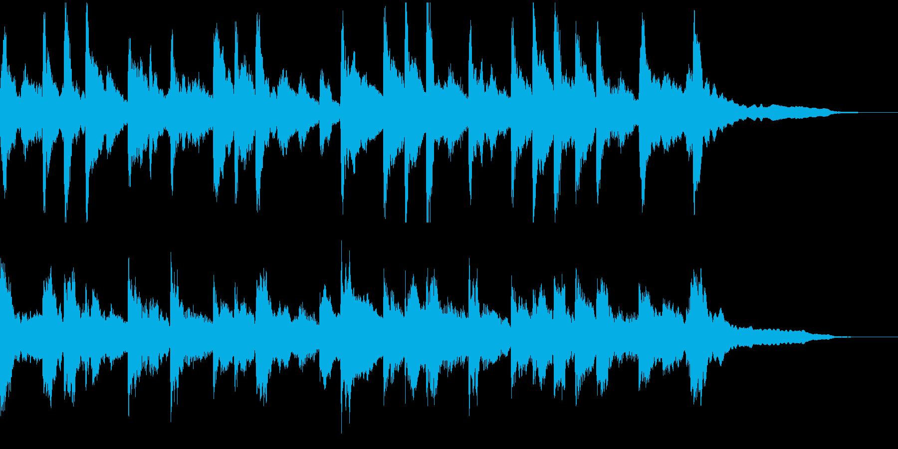 おだやかなピアノのCM向けBGMの再生済みの波形