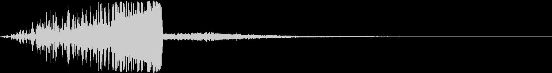 インパクト大なタイトルロゴの未再生の波形