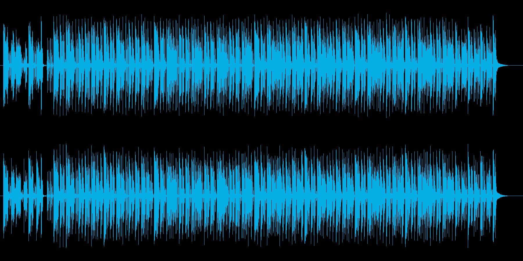 おしゃれで楽しげなギターサウンドの再生済みの波形