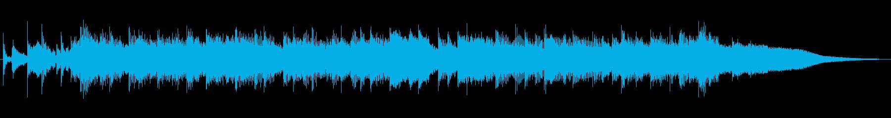 オープニング用ポップス音源の再生済みの波形