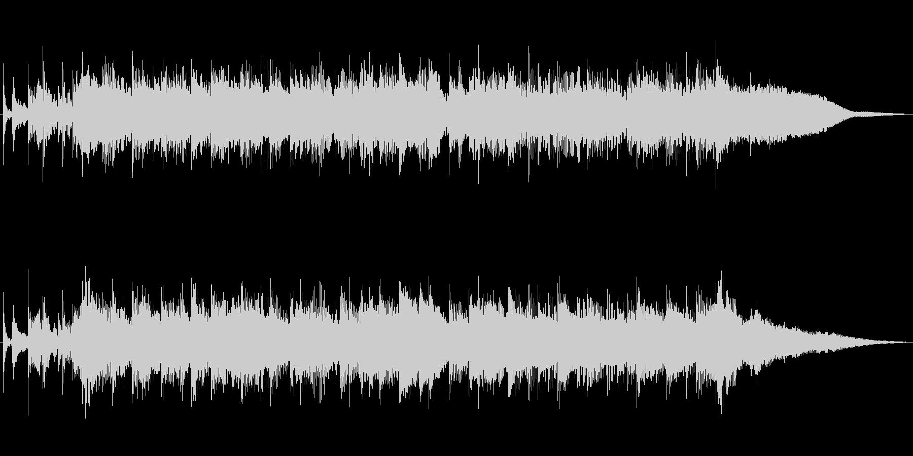 オープニング用ポップス音源の未再生の波形
