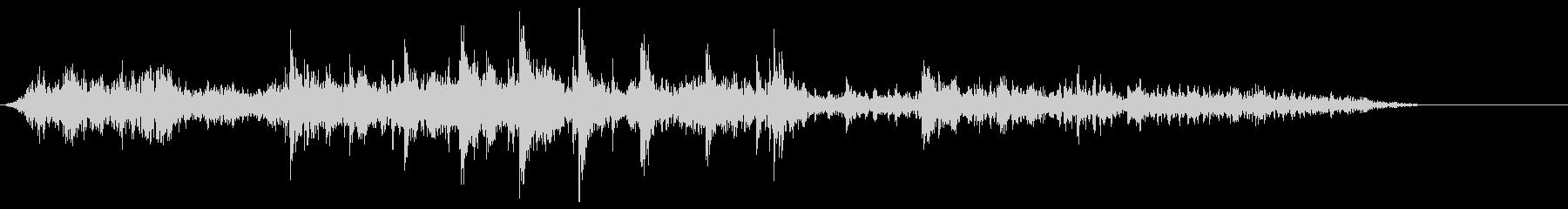 [生音]ビー玉が転がる02(ロング)の未再生の波形