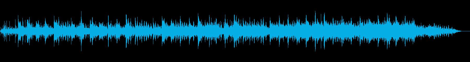 雨の音が印象的なヒーリングピアノ曲の再生済みの波形