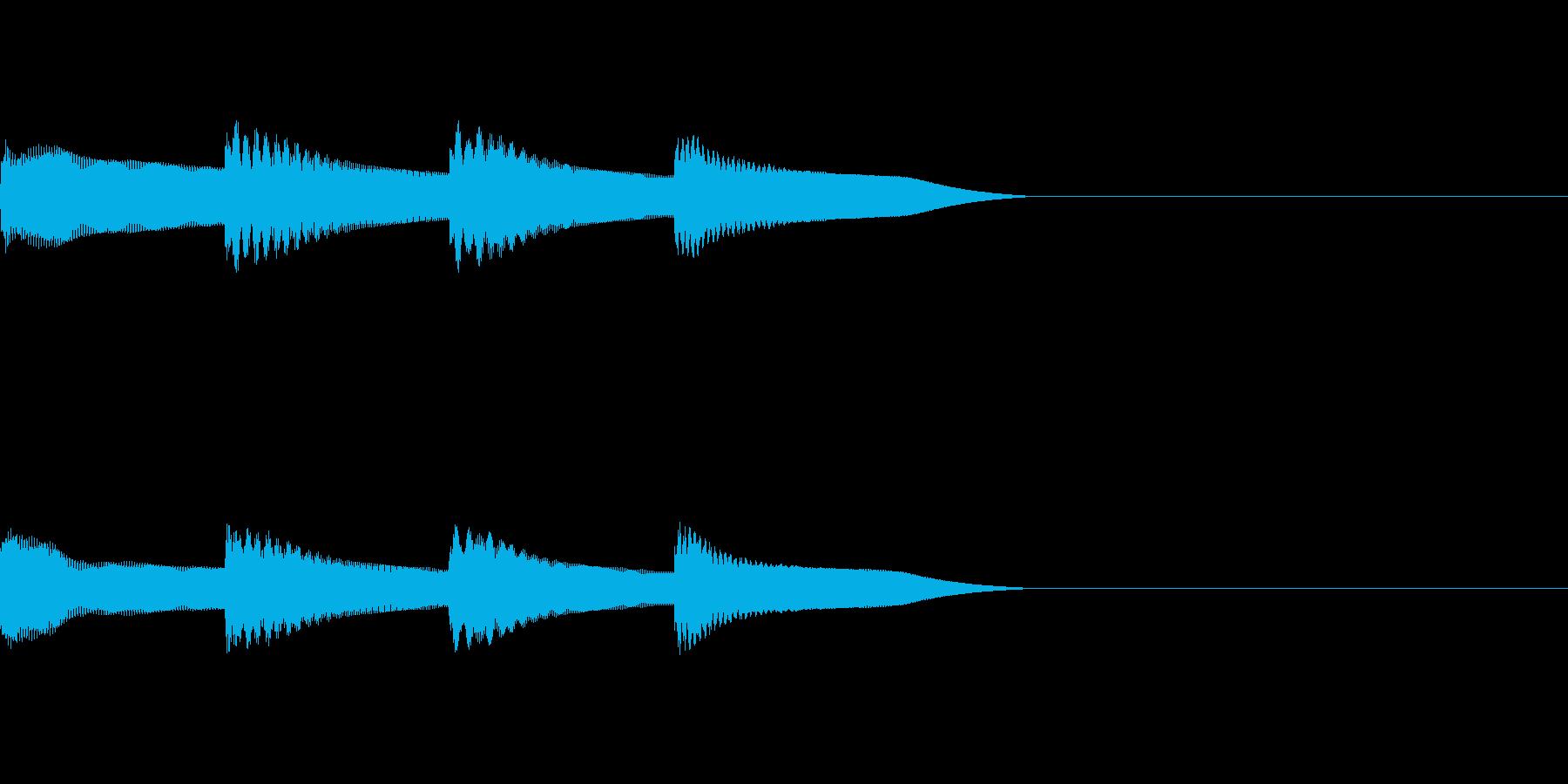ピンポンパンポン 木琴 早い上昇の再生済みの波形