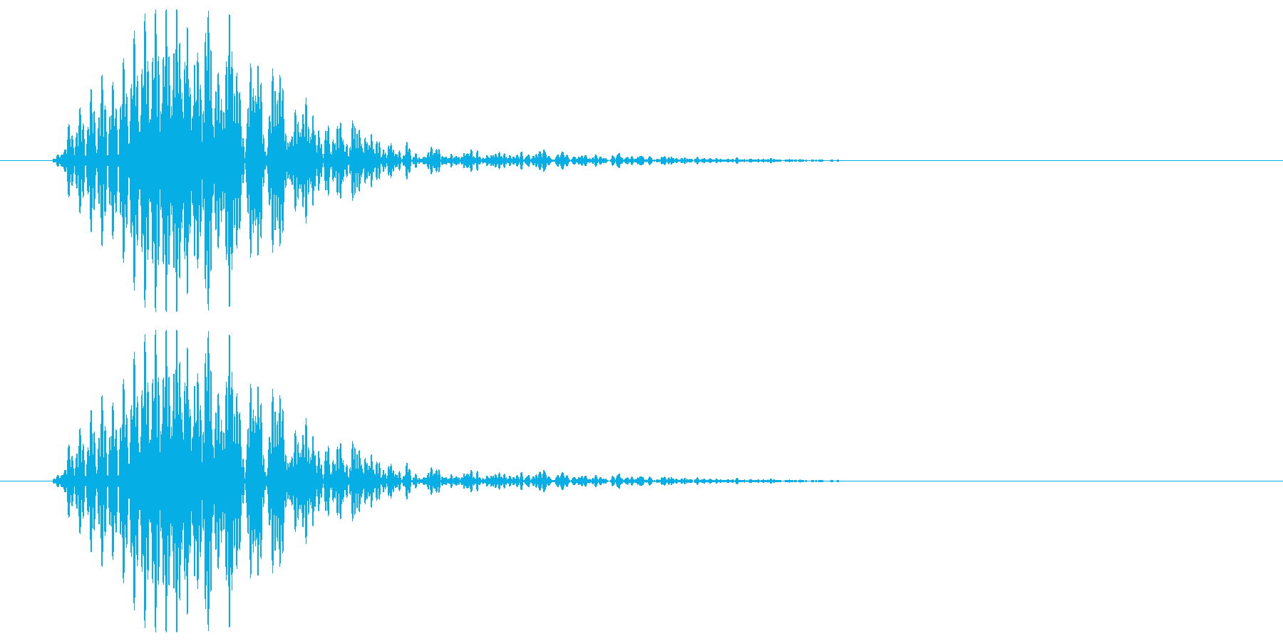 ワンッ(犬の鳴き声)の再生済みの波形