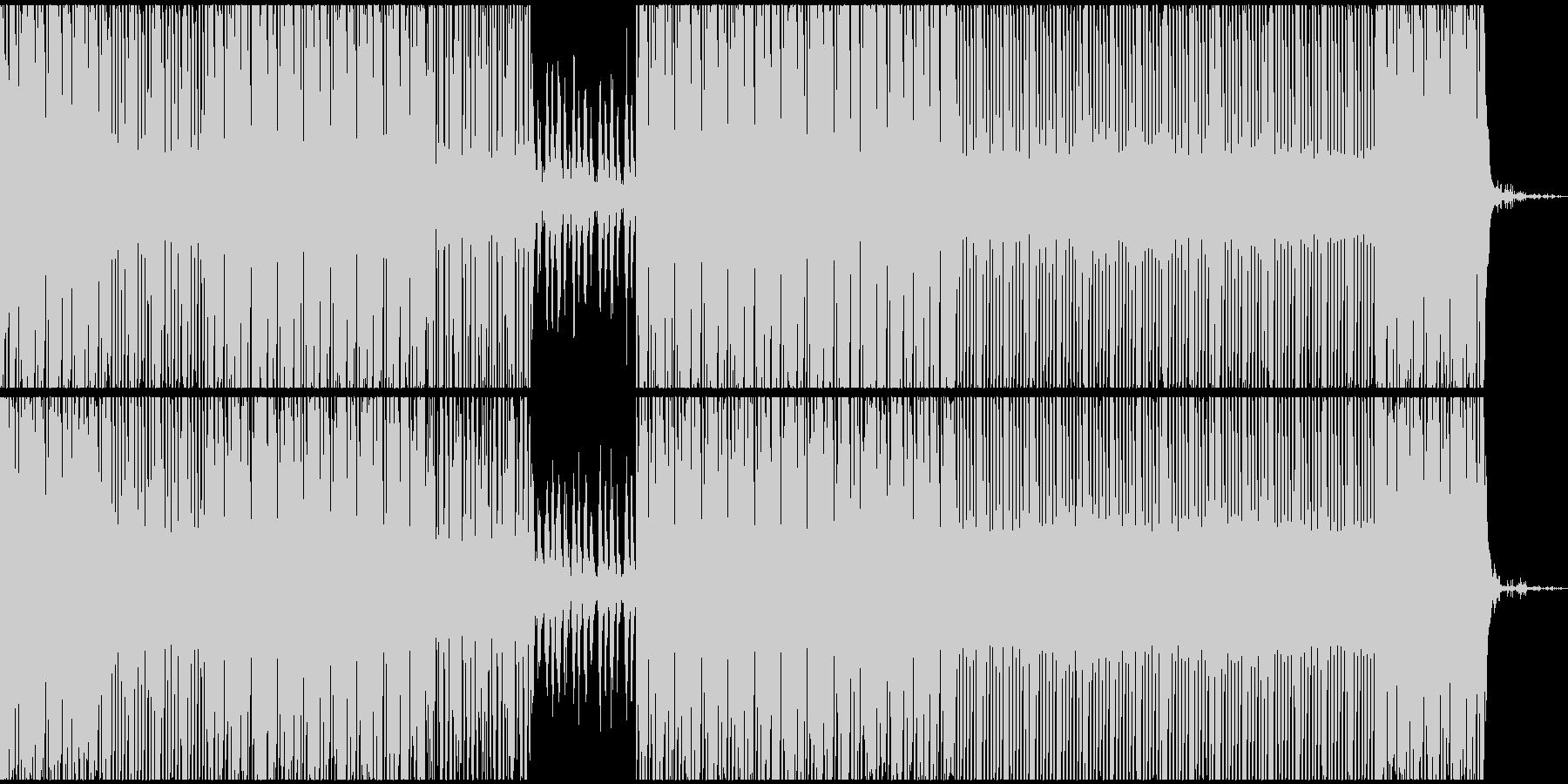 暗く明るい中立なテクノEDMサウンドの未再生の波形