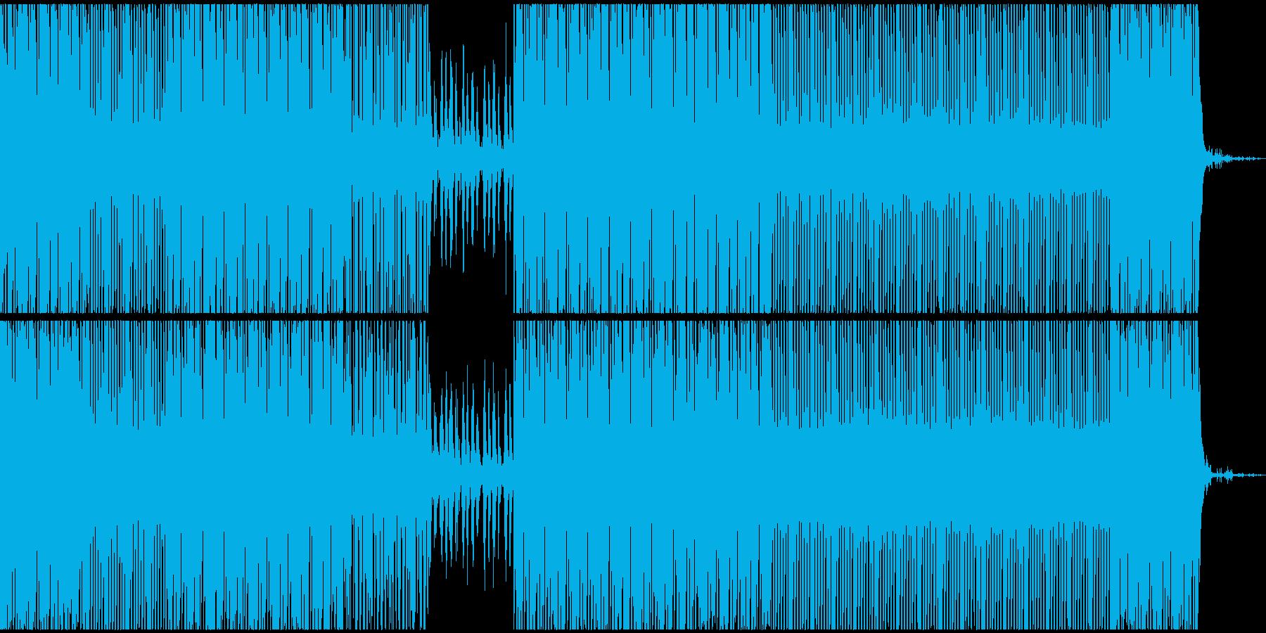 暗く明るい中立なテクノEDMサウンドの再生済みの波形