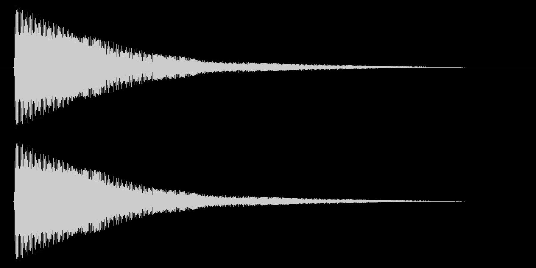 決定/電子音/シューティング/ピロピロ…の未再生の波形