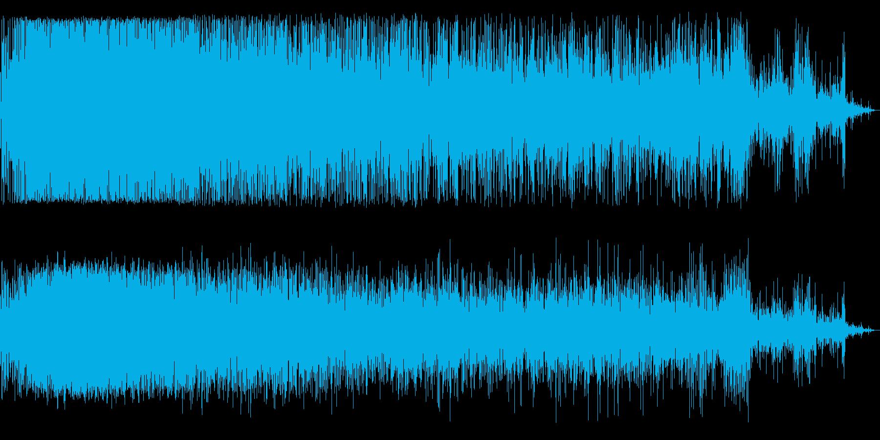 ジュジュジュジュ(鉄板で焼く様な音)の再生済みの波形