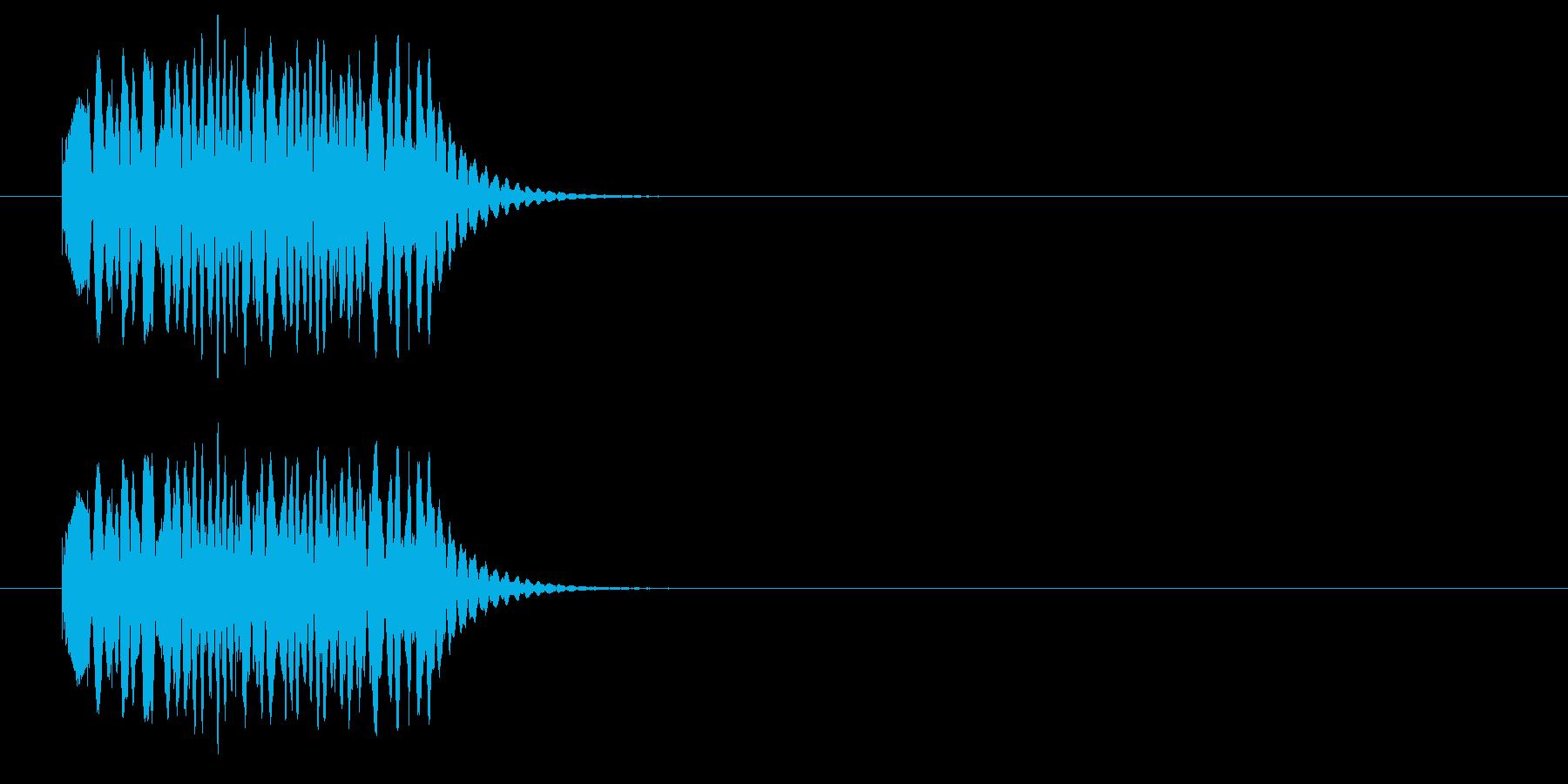 クルクル①(回転・場面転換・時間経過)の再生済みの波形