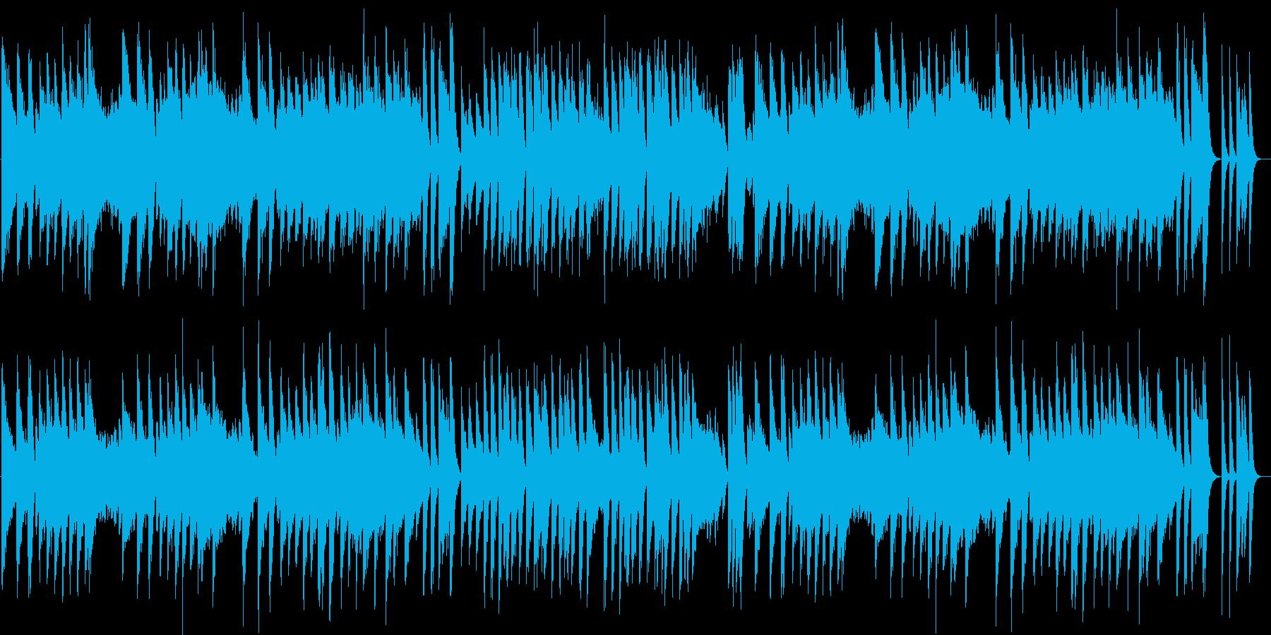 昭和歌謡の切なくて甘酸っぱいピアノBGMの再生済みの波形