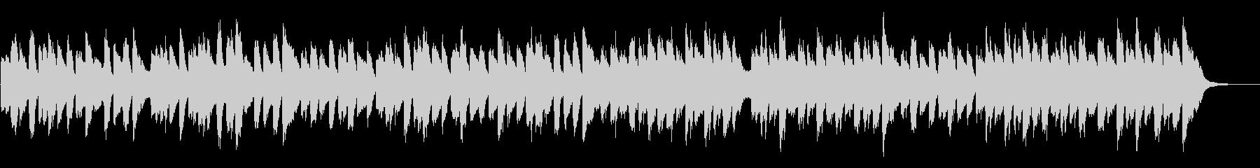 ほのぼのしたピアノショートBGMの未再生の波形