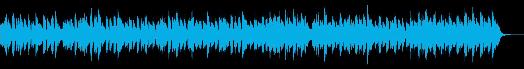 ほのぼのしたピアノショートBGMの再生済みの波形