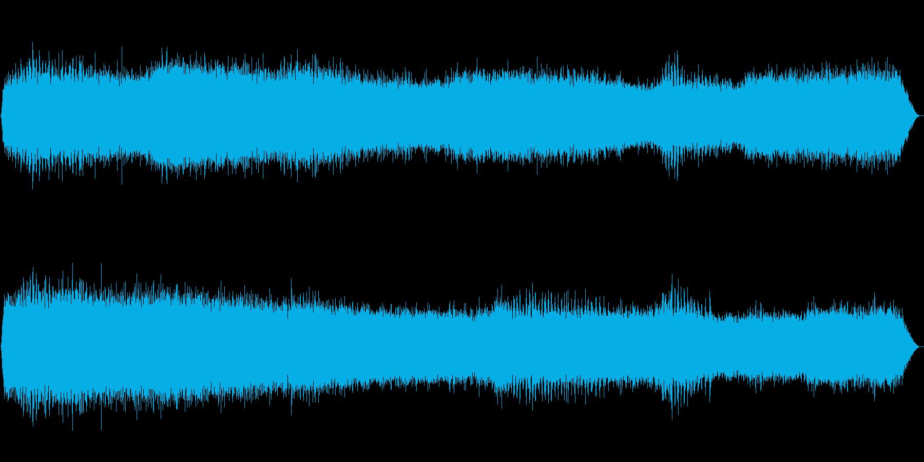 ヒグラシとアブラゼミの鳴き声(セミ、夏)の再生済みの波形