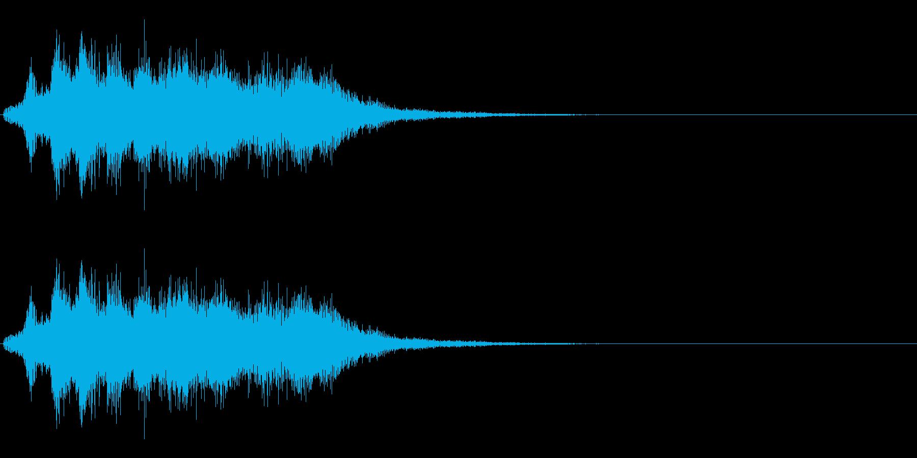 スーパー、テロップ等向けの電子音の再生済みの波形