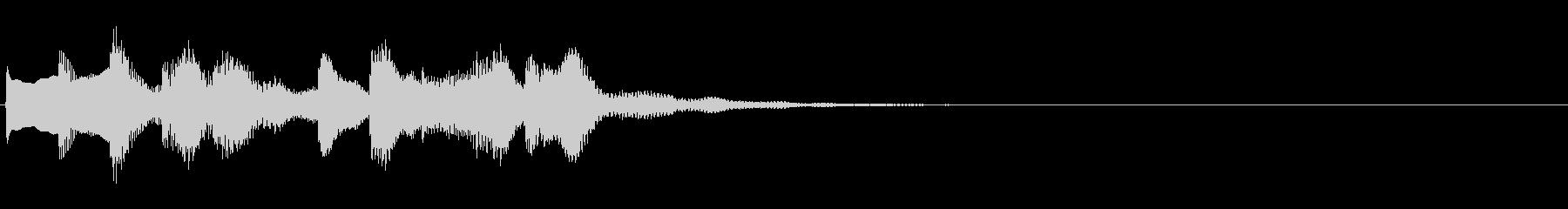 電車の発車メロディーです。の未再生の波形