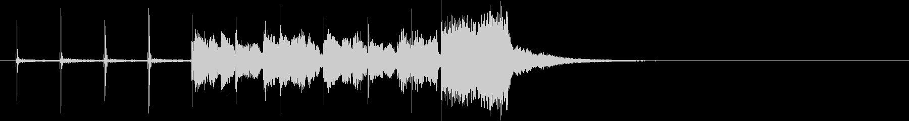 オルガンジングル タップ風+カウントの未再生の波形