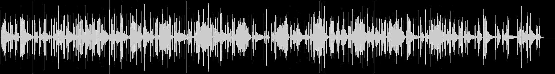 スローで綺麗な音のエレクトロニカの未再生の波形