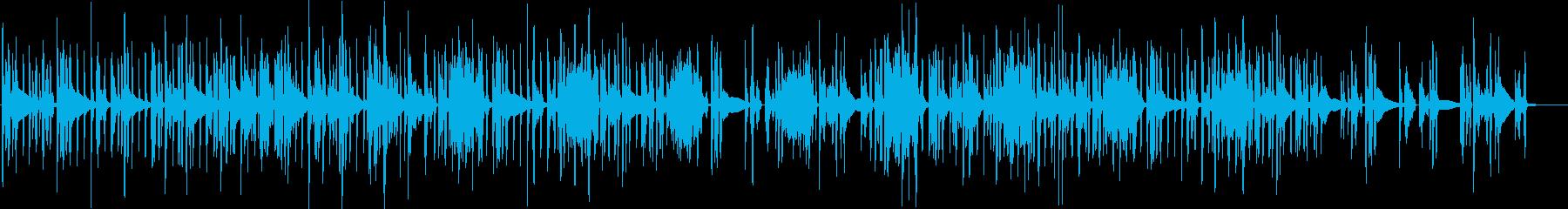 スローで綺麗な音のエレクトロニカの再生済みの波形