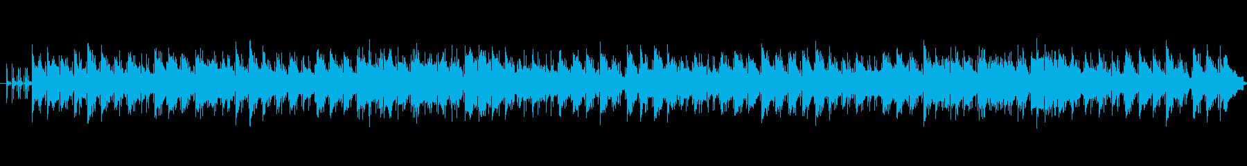 悲しげなストリングスとギターのアルペジオの再生済みの波形