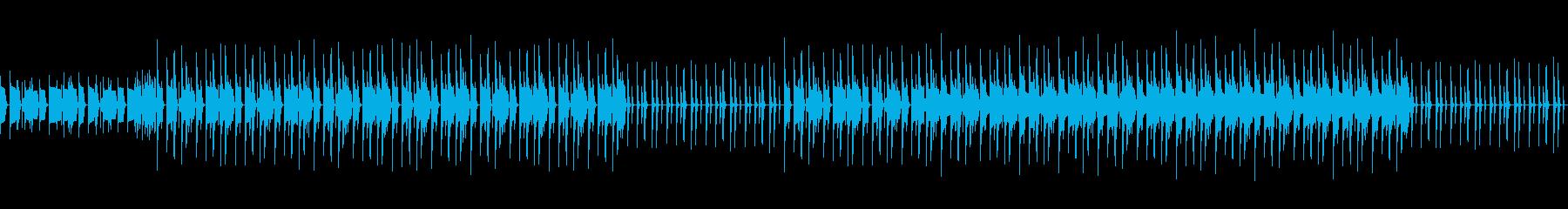 ベースがメインのシックな曲の再生済みの波形