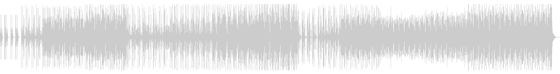 リズムをメインにしたエレクトロファンクの未再生の波形