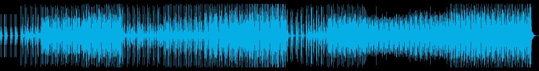リズムをメインにしたエレクトロファンクの再生済みの波形