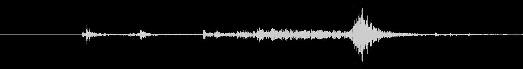 ドアチェーンを掛ける音4の未再生の波形