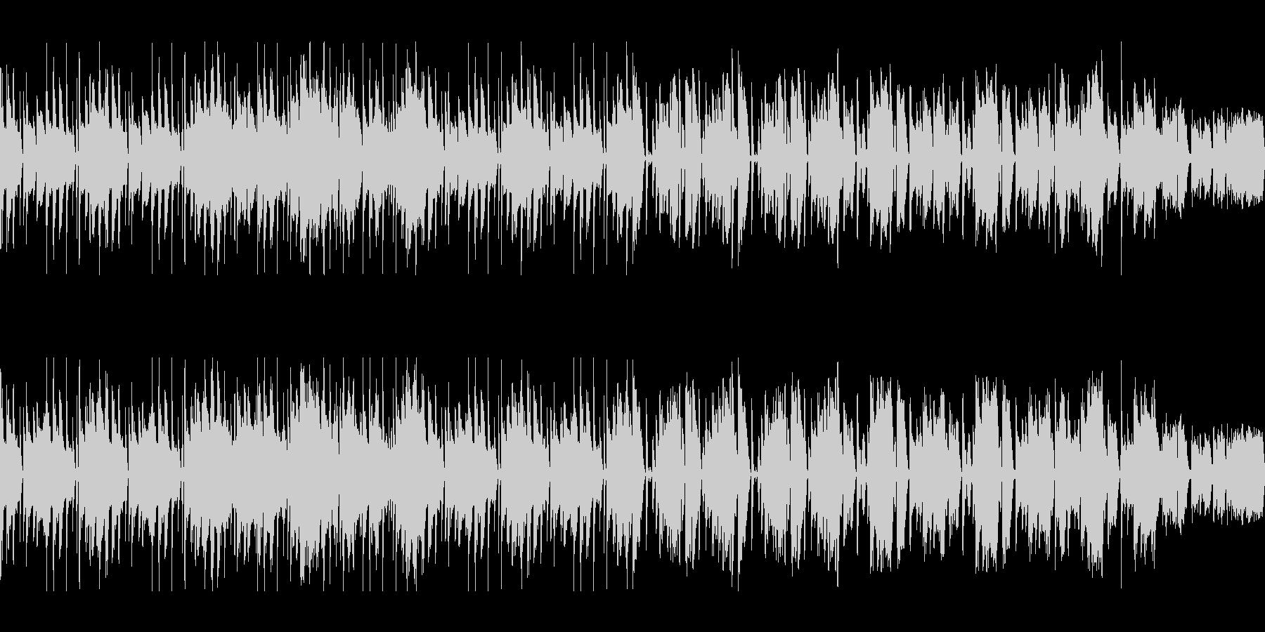 ファンキーなベースが中心のループ素材の未再生の波形