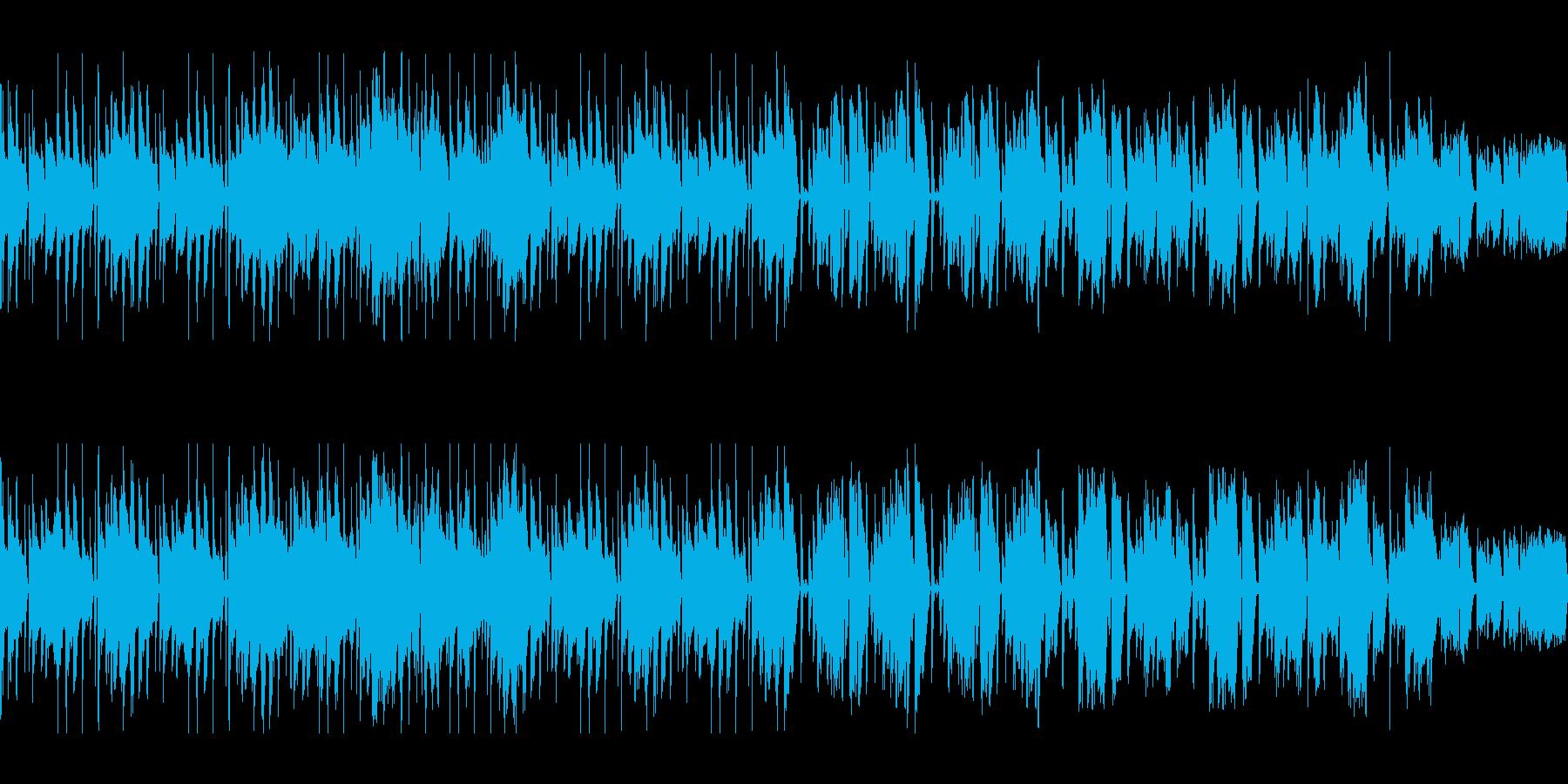 ファンキーなベースが中心のループ素材の再生済みの波形