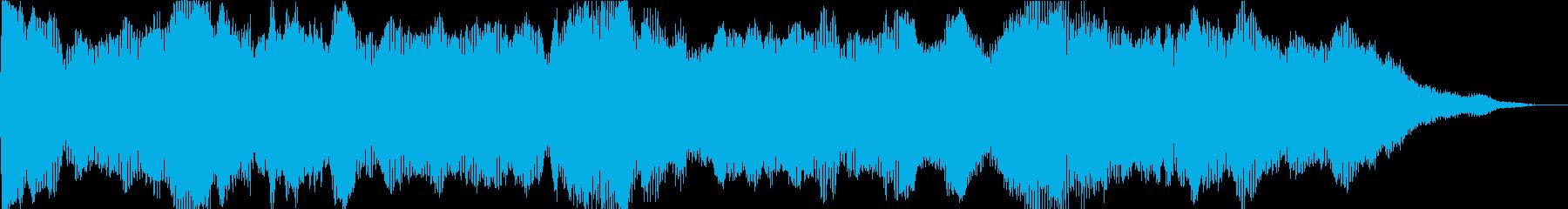 注目レイヤーの再生済みの波形
