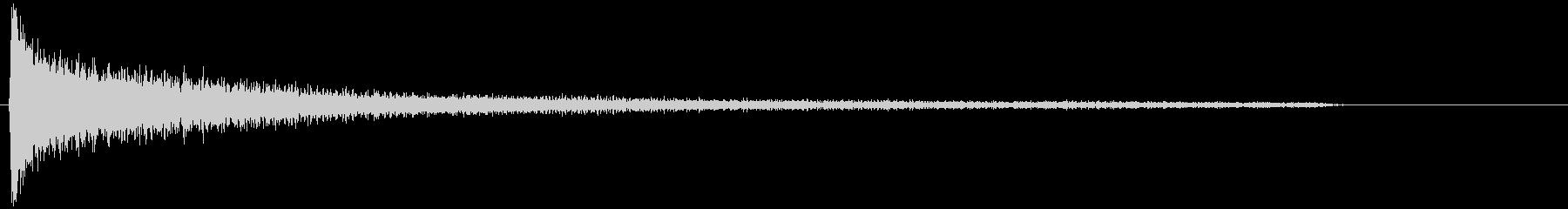 ピアノでガーーーンッ!衝撃(低+高音)の未再生の波形