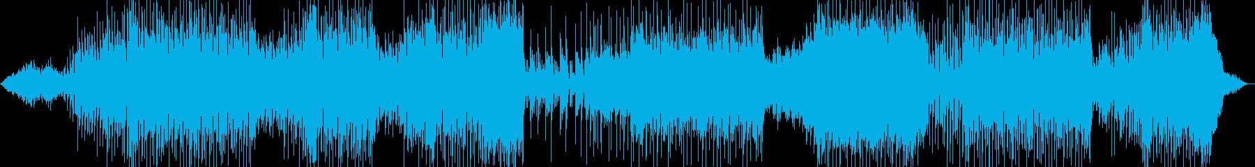 宇宙的で疾走感あるテクノ、EDMの再生済みの波形